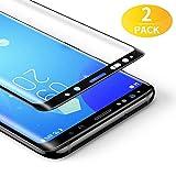 BANNIO [2 Pacco Pellicola Protettiva per Samsung Galaxy S8 Plus,3D Full Screen Pellicola Vetro Temperato,Copertura Completa con Alta Trasparente per Samsung Galaxy S8 Plus,Nero