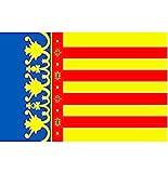 Bandera de la Comunidad Valenciana de la marca Durabol, 150x90cm, con dobladillo.