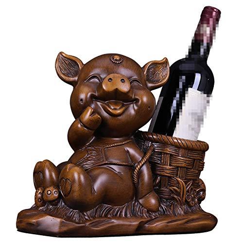 QIBAJIU Statue Décoration Porte-Stylo De Boîte De Rangement De Clé De Décoration De Casier À Vin De Sculpture De Porc