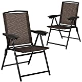 Goplus Folding Sling Chairs Sets of 2, Portable Chairs for Patio...