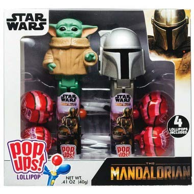 Star Wars Pop Up Lollipop Case The Mandalorian and The Child Candy Christmas Stocking Stuffers Gift Set
