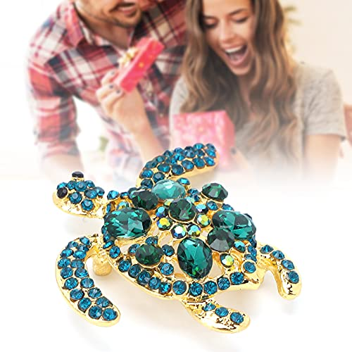 Broche con forma de animal, material de aleación Accesorio de joyería Broche de mujer Forma de tortuga para bodas Fiestas de baile Vida diaria para ropa Faldas Bolsos de lona