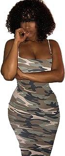 Unbekannt Kleid, Sexy Slim Bag Hüftgurt Camouflage 4 Farben 6 Größen erhältlich Color : Gray, Size : XL
