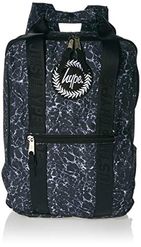 HYPE - Mono Pool Boxy Backpack, Mochilas Unisex adulto, Multicolor (Black/White), 30x41x15 cm (W x H L)