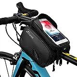 TAKEBEST Impermeabile Borsa Telaio Bici, TPU Sensibile Touchscreen Borsa Bici Cellulare Bicicletta Borsa Manubrio per 7 Pollici o Meno Smartphone