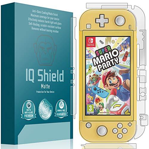 IQShield Matte Full Body Skin Compatible with Nintendo Switch Lite (5 inch, 2019) + Anti-Glare (Full Coverage) Screen Protector and Anti-Bubble Film