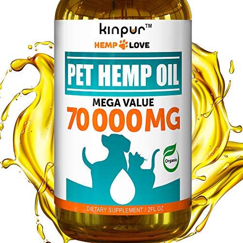 Natural Hemp Oil for Dogs & Cats - 70 000MG - Premium Hemp Extract -...