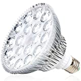 MILYN 54W LED Grow Light Bulb for Indoor Plants, E27 Full Spectrum Plant lamp for Flowering Bloom and Fruiting Hydroponic Growing Greenhouse Plants Succulents White Lighting