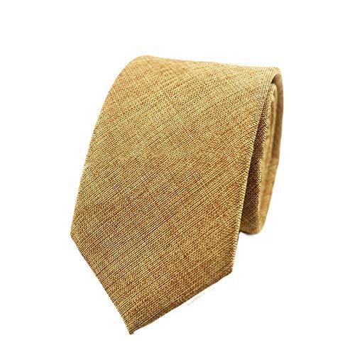 Neckties Clásico De Los Hombres De La Corbata De Negocios Hecho A Mano De Poliéster Lino Corbatas 6Cm Sólido Gris Negro Colorido Gravata Suave Pañuelo