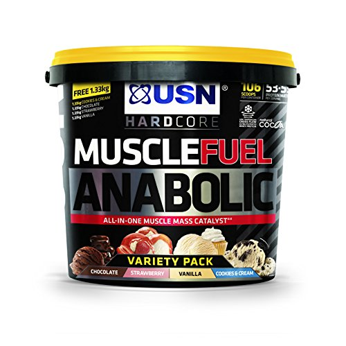 USN Muscle Fuel Anabolic Variety 5.3KG, Performance Boosting Muscle Gain Protein Shake Powder