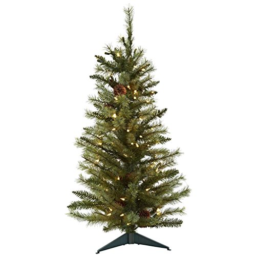 Nearly Natural 5441 Christmas Tree with Pine Cones and Clear...