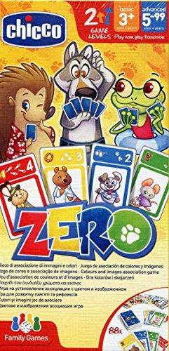 Chicco Gioco da Tavolo Zero, Gioco di Carte per Bambini e per Tutta la Famiglia, da 3 Anni...