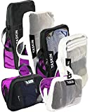 Ultralight Clear-View Compression Packing Cubes with Double Zipper | Premium Materials | Genuine YKK Zippers (Black &...