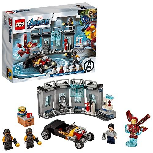 LEGO 76167 Marvel Super Heroes Armería de Iron Man, Juguete de Construcción de Vengadores con Mini Figura de Tony Stark