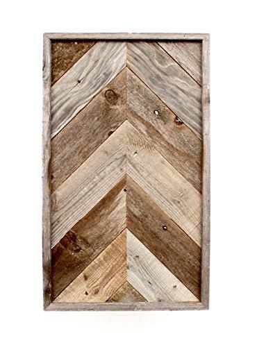 BarnwoodUSA Rustic Chevron Arrow Wall Art - 100% Upcycled Reclaimed Wood (7 Piece Framed, Weathered Gray)