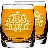 2 Pcs. Vaso Personalizado Grabado para Whisky o Ron Vaso Bola Baja Tamaño 250ml