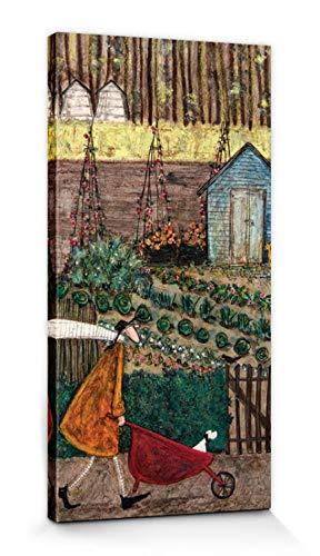 1art1 Sam Toft - Die Vier Jahreszeiten, Sommer Bilder Leinwand-Bild Auf Keilrahmen | XXL-Wandbild Poster Kunstdruck Als Leinwandbild 60 x 30 cm