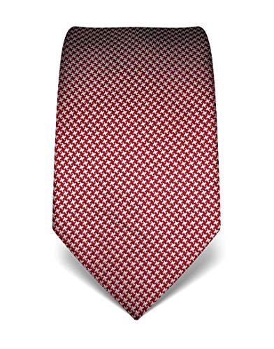 Vincenzo Boretti Herren Krawatte reine Seide Hahnentritt Muster edel Männer-Design zum Hemd mit Anzug für Business Hochzeit 8 cm schmal/breit weinrot/weiß