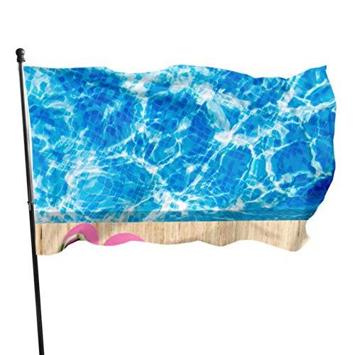 Hdadwy Chanclas de Colores flotan en la Bandera de la Piscina Bandera...