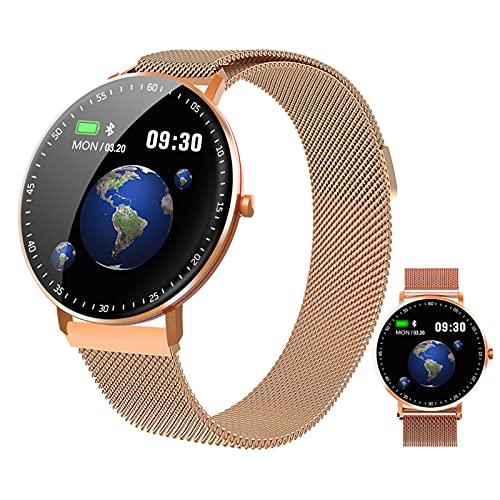 BNMY Smartwatch, Impermeable Reloj Inteligente con Cronómetro, Pulsera Actividad Inteligente para Deporte, Reloj De Fitness con Podómetro Smartwatch Mujer Hombre para Android iOS,D