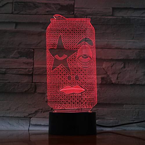 DFDLNL Colores de Bombilla led 3D Que cambian Luces led RGB Accesorios de decoración lámparas de Mesa Dormitorio