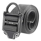 SFGSA Cintura Tattica Cricchetto Cinturone Militare Tattico Cinture Nylon Canvas Taglia Grossa con Fibbia Automatica,9,125cm