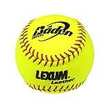 Baden NFHS 12 in. Lexum Leather Softballs - 1 Dozen