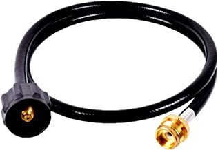 4 Foot Propane Hose Adapter Grill Tank Extension Flexible Quick Connector Assembly 1 lb to 20 lb Replacement QCC1/ Type 1 with CSA Certified