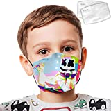 ZSDAFGHKKK Children's Halloween Mouth Face Mask, Marsh-Mello Windproof Sports Mask Microfiber for Boys&Girls
