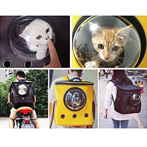Seitenspeicher Designlarge Haustiere Rucksack Träger Reise Cortex Cat Puppy Handtasche Tragbare, Wasserdichte Kunstleder, Verstellbarer Komfortriemen, Seitenspeicher Design, zum Wandern