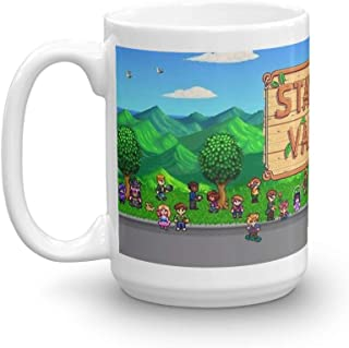 Stardew Valley Bus. 15 Oz Ceramic Coffee Mug Also Makes A Great Tea Cup With Its Large, Easy to Grip C-handle. 15 Oz Ceramic Glossy Mugs Gift For Coffee Lover