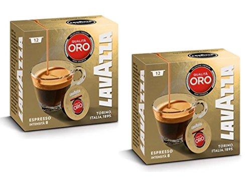 Lavazza A Modo Mio Oro Coffee Capsules (2 Packs of 12)
