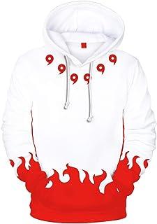 EUDOLAH Boy's Fashion Hoodies Long Sleeve Autumn Outerwear Sweatshirt with The Japanese Anime Naruto