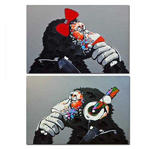 LangGe Listones de Madera - 2x50x70cm - Sin Marco - Graffiti