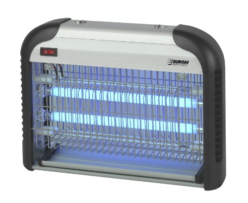 Eurom Insektenvernichter Insektenlampe mit UV-Lampe 19W (2x 8W) und 100m² Reichweite