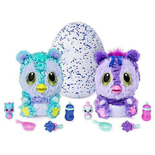 Hatchimals 6046470 - HatchiBabies Kitsee, Ei mit Baby-Hatchimal und interaktiven Accessoires