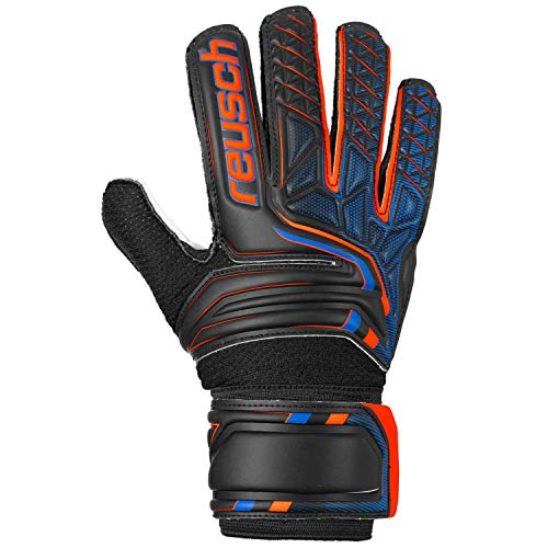 Reusch Herren Attrakt Sg Junior Torwarthandschuhe, Black/Shocking orange, 6
