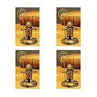 メモホルダー 4個セット メモクリップ カードスタンド クリップホルダー 金属製 カードを固定できる 結婚式 レストラン用 ゴールデン