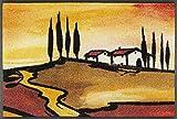 wash+dry Paillasson Toscan Muse 50 x 75 cm - Intérieur et extérieur - Lavable
