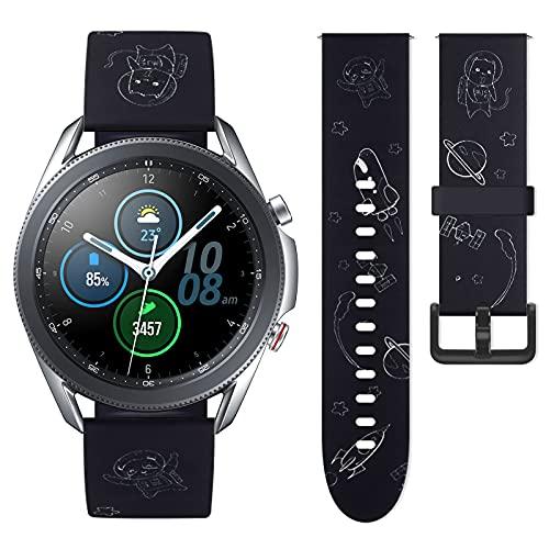 Vozehui Correa compatible con el reloj Samsung Galaxy Active 3 de 45 mm/22 mm, banda de repuesto para Galaxy Gear 2, mujeres y hombres,