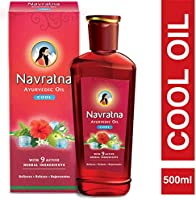 Navratna Ayurvedic cool hair oil with 9 herbal ingredients