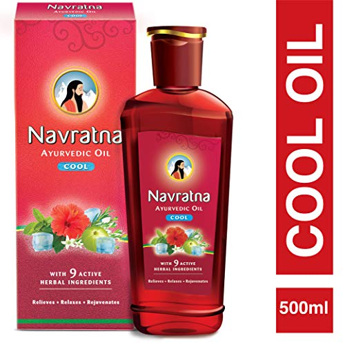 Navratna Ayurvedic cool hair oil with 9 herbal ingredients, 500ml