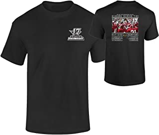 Elite Fan Shop Alabama Crimson Tide National Champs Tshirt Black Recap (2017 National Championship)