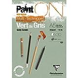 Clairefontaine 975704C - Blocco di carta da disegno Paint'On 30 fogli, 14,8 x 21 cm, 250 g, colore: Verde