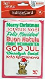 Edible Christmas Card for Dogs - Greetings Design
