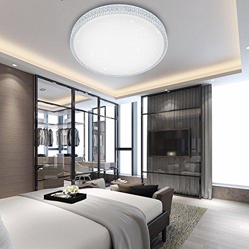 VINGO® 50W LED Kristall Deckenleuchte Sternenhimmel Kaltweiß Sternen Deckenlampe Schlafzimmer