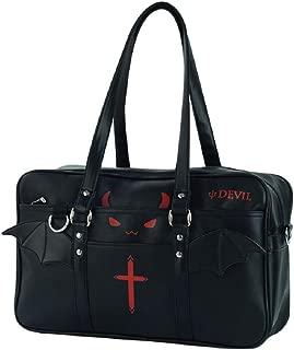 GK-O Japanese Lolita PU Leather Handbag Kawaii Devil Gothic Shoulder Bag School Bag Messenger Bags
