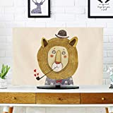 catch-L Innen Cartoon LCD TV-Cover Displayabdeckung Staubschutz Stoff (Color : Lion, Size : 19inch-46 * 35cm)