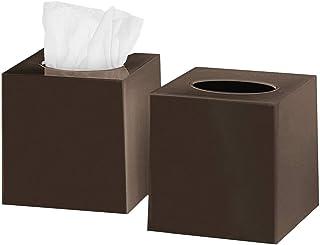 VTAMIN DWËLLZA HOMË Tissue Box Cover Square - Facial Cube Tissue Box Holder Case Dispenser for Bathroom Vanity Countertop,...