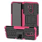 Labanema Huawei Mate 20 Lite Funda, [Heavy Duty] [Doble Capa] [Protección Pesada] Híbrida Resistente Funda Protectora y Robusta para Huawei Mate 20 Lite (con 4 en 1 Regalo empaquetado) - Rosa